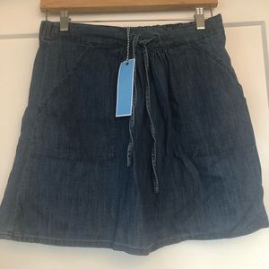 Draper James Pull On Chambray Skirt - NEW!